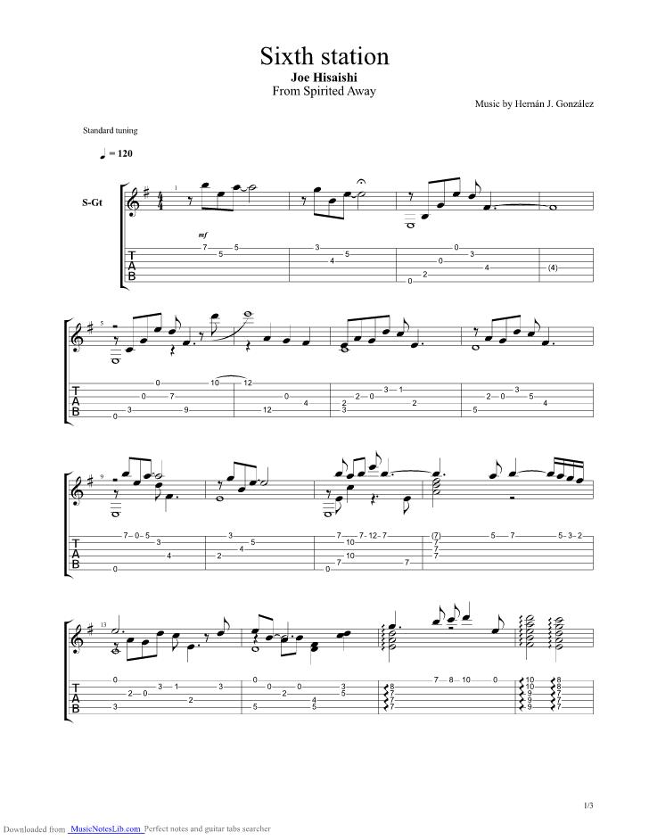 Sixth Station guitar p...