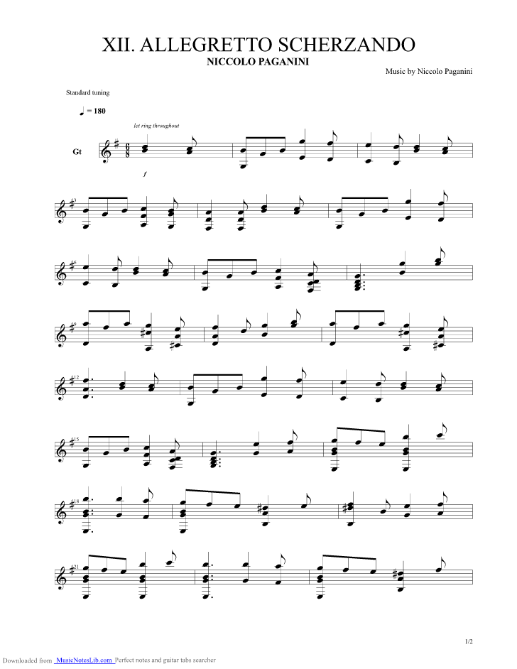 paganini caprice 24 guitar tab pdf