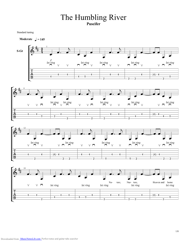 The Humbling River Guitar Pro Tab By Puscifer Musicnoteslib