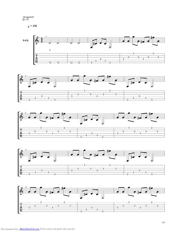 Traitors Never Play Hangman Acoustic guitar pro tab by Bring Me The Horizon @ musicnoteslib.com