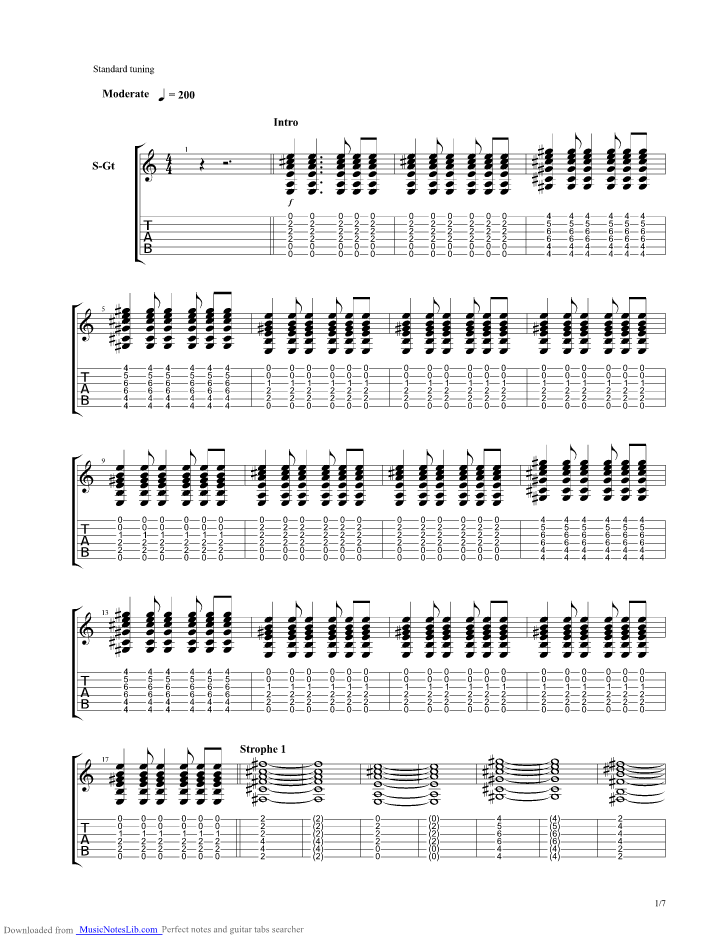 Mountain Sound guitar pro tab by Of Monsters And Men @ musicnoteslib.com