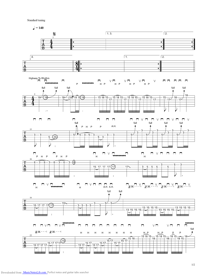 To The Stage guitar pro tab by Troy Stetina ...