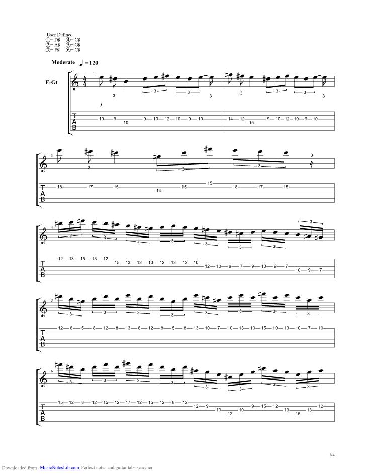Devils Choir Guitar Pro Tab By Black Veil Brides Musicnoteslib