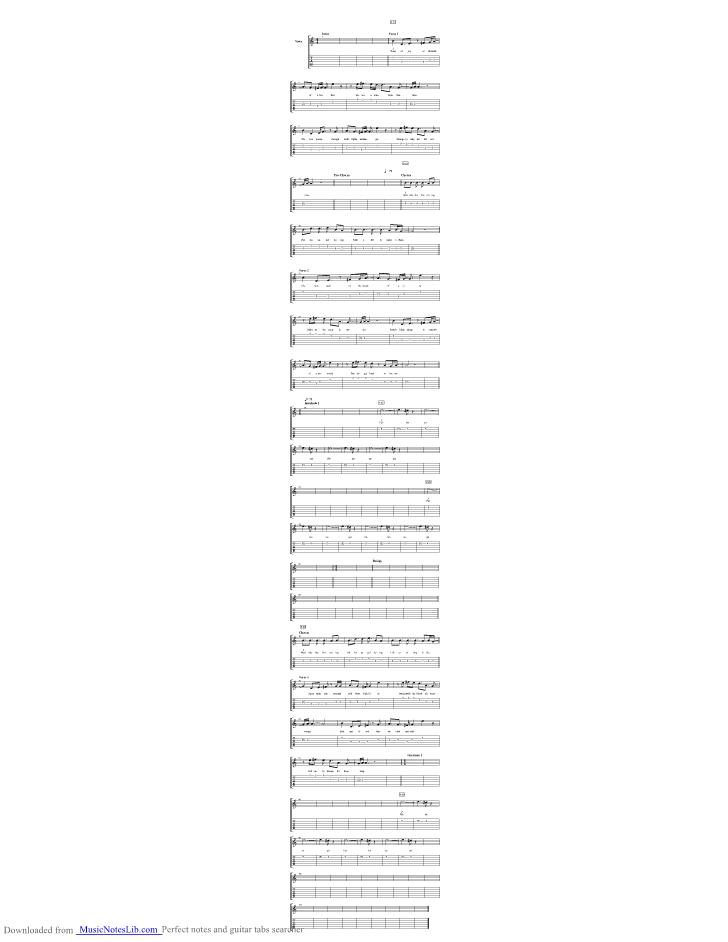Fallen Angel Guitar Pro Tab By King Crimson Musicnoteslib