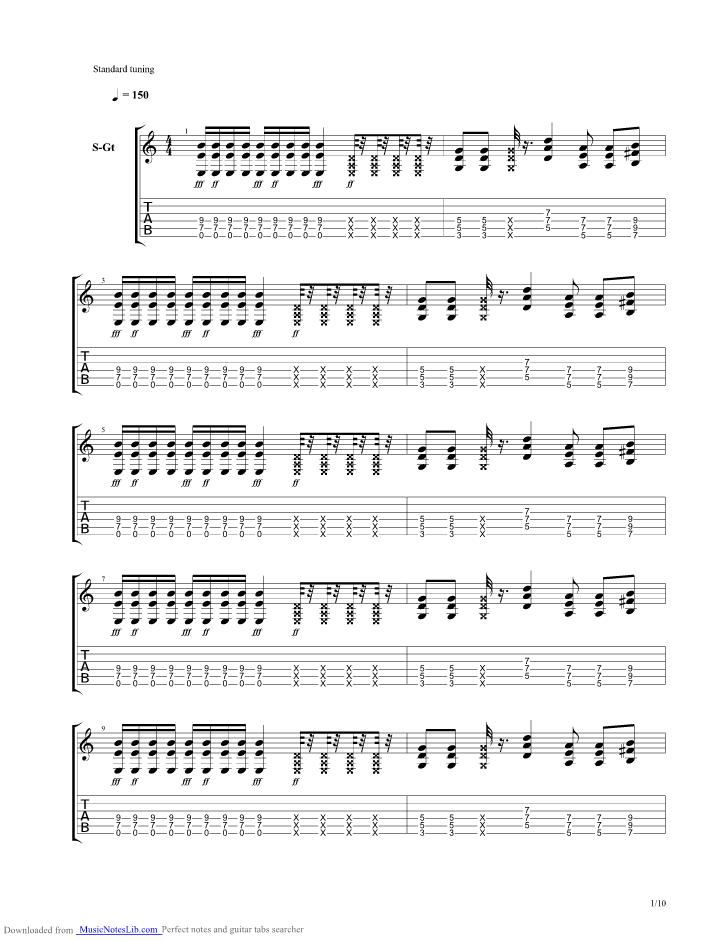 Master Exploder Guitar Pro Tab By Tenacious D Musicnoteslib