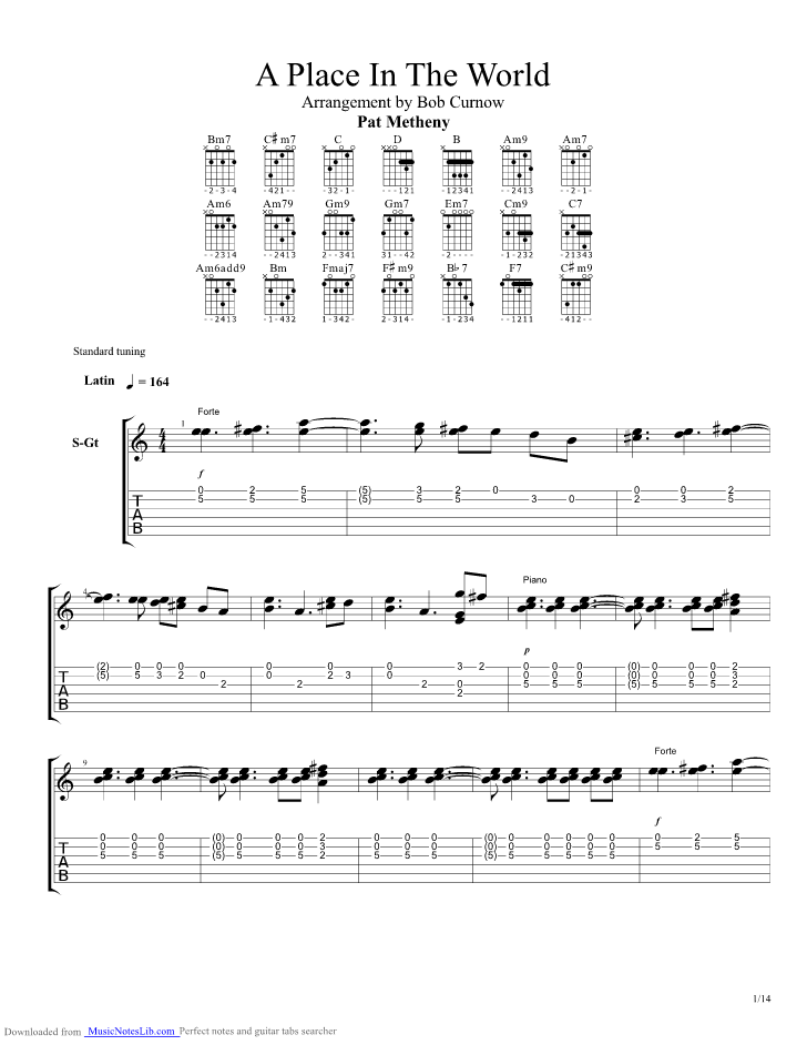 a place in the world guitar pro tab by pat metheny musicnoteslib