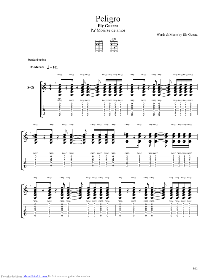 My Name Is Nobody Guitar Pro Tab By Ennio Morricone Musicnoteslib