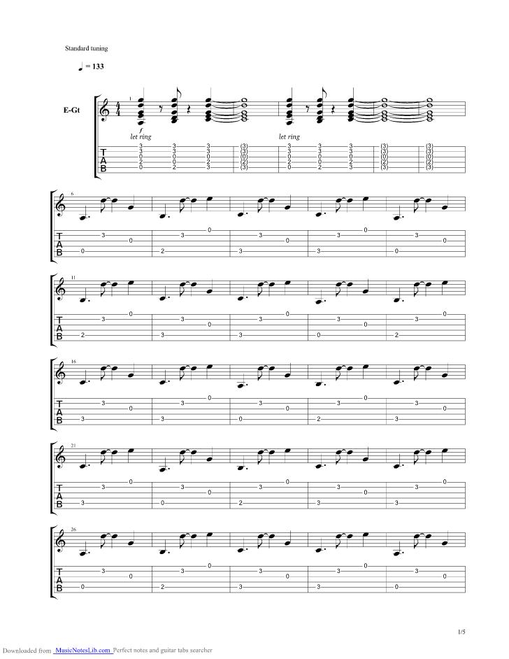 Mayonaka To Mahiru No Yume Guitar Pro Tab By Asian Kung Fu