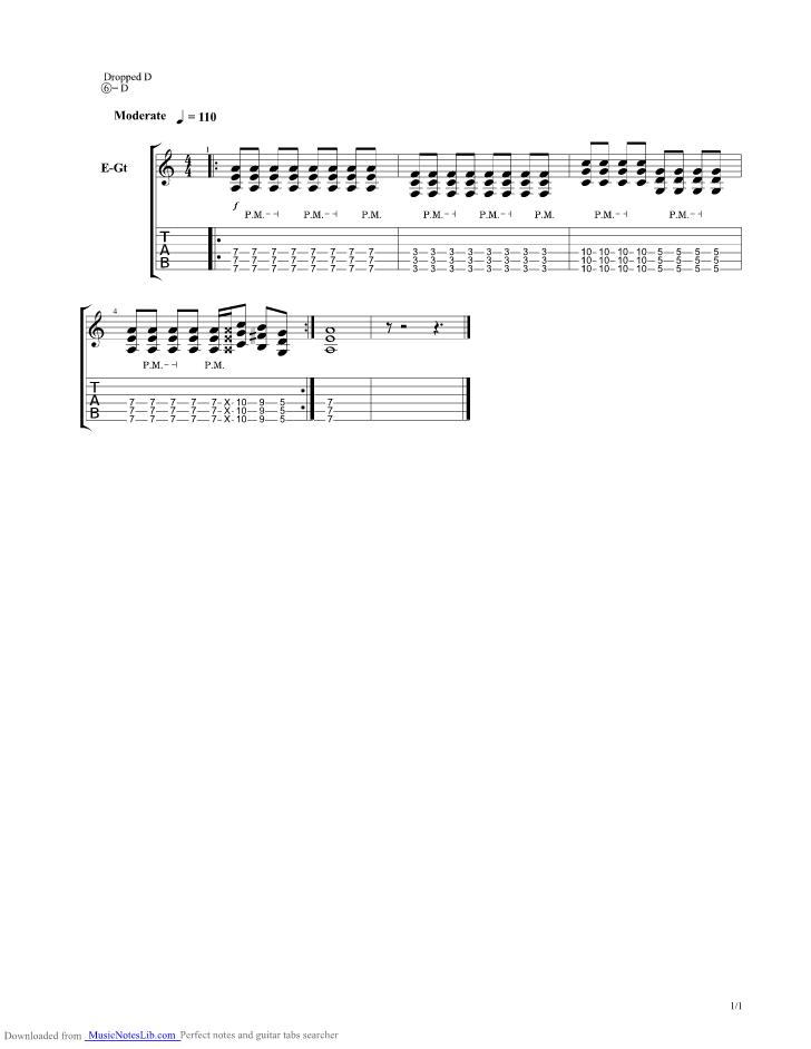 lordi hard rock hallelujah guitar tab