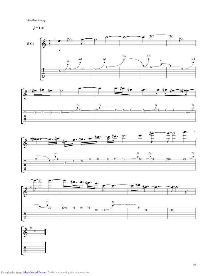 Gortoz a ran guitar pro tab by hans zimmer for Hans zimmer time