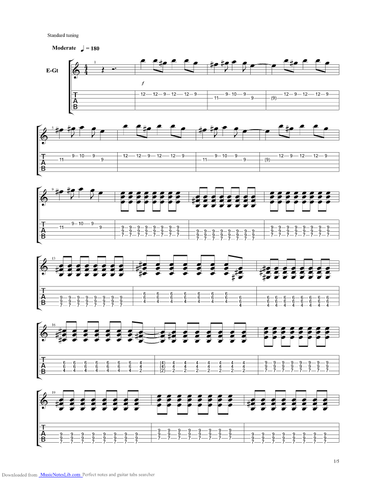 Hombres G Guitar Pro Tabs