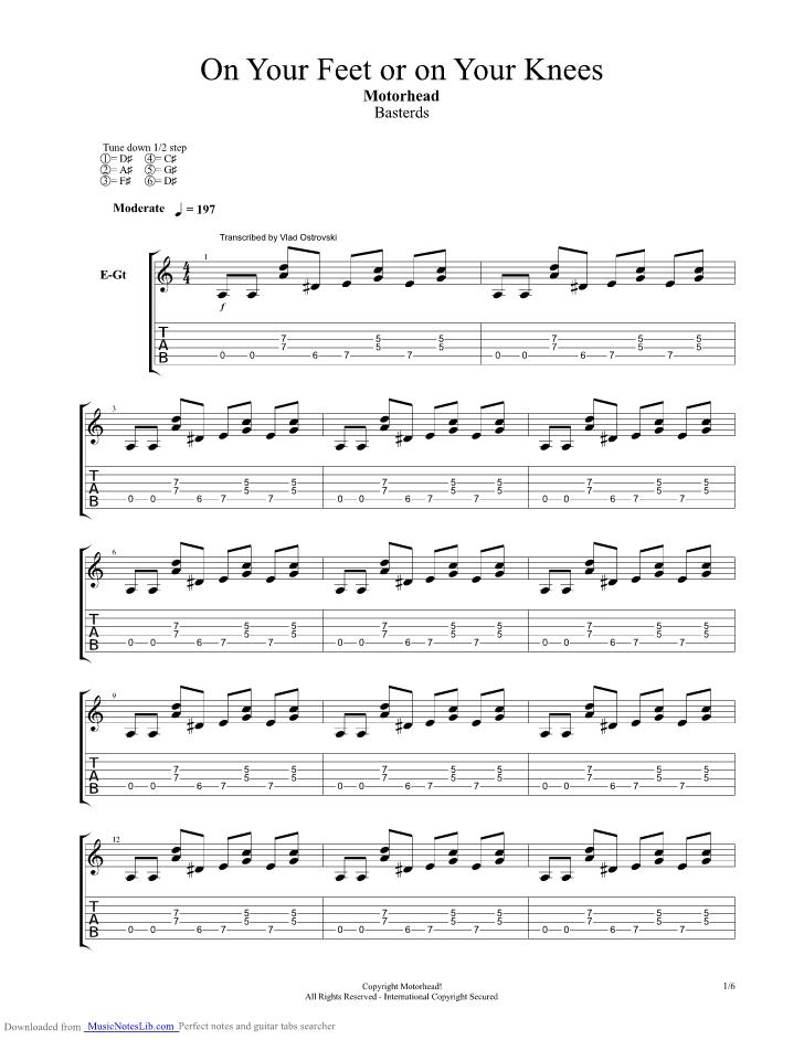 Overkill guitar chords