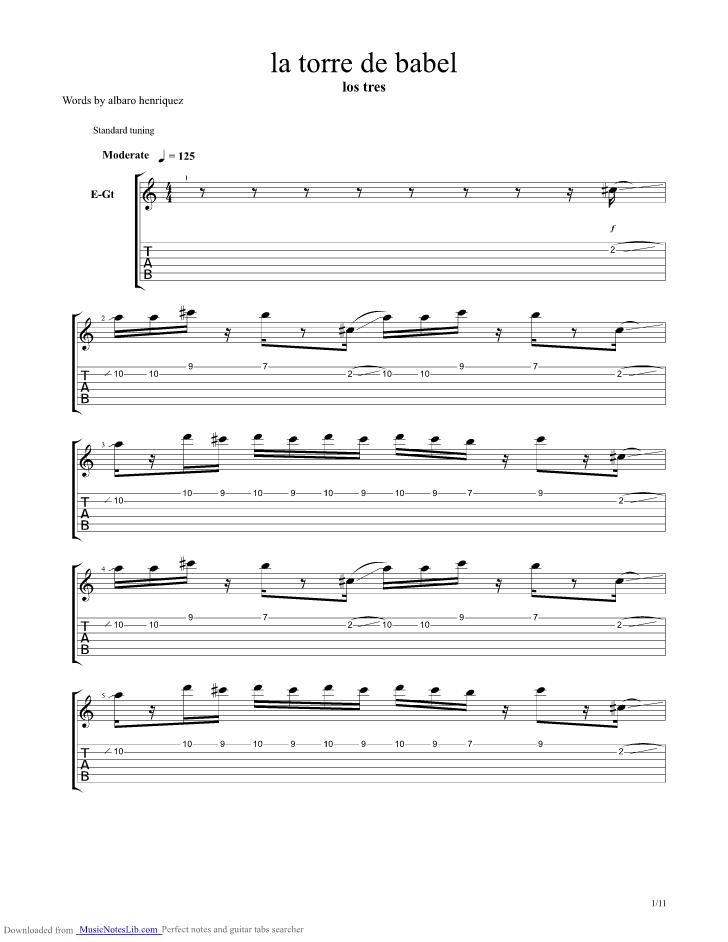Babel Guitar Chords Image collections - basic guitar chords finger ...