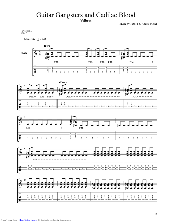 acdc highway to hell guitar tabs