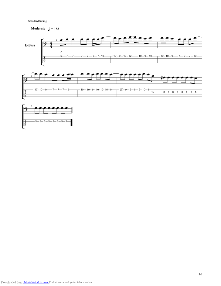 Sunrise Guitar Pro Tab By New Order Musicnoteslib