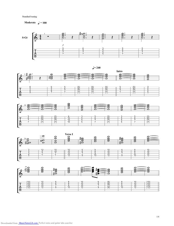 We Burn Guitar Pro Tab By Sabaton Musicnoteslib