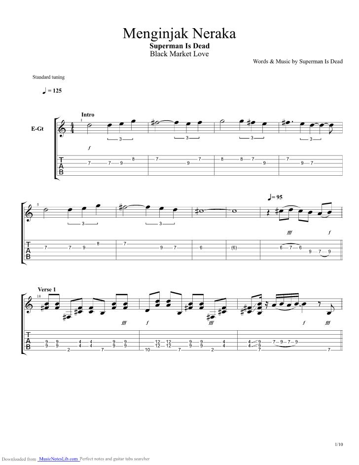 Menginjak Neraka Guitar Pro Tab By Superman Is Dead Musicnoteslib