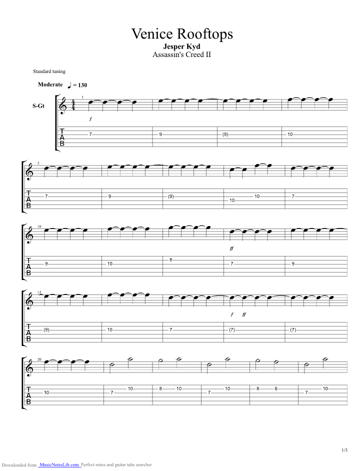 Rooftops Chords Guitar 807