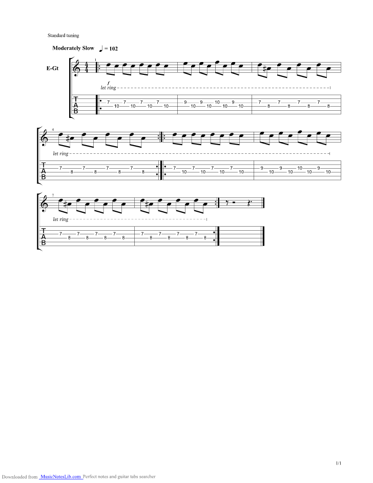 It Is Not Meant To Be Guitar Pro Tab By Tame Impala Musicnoteslib