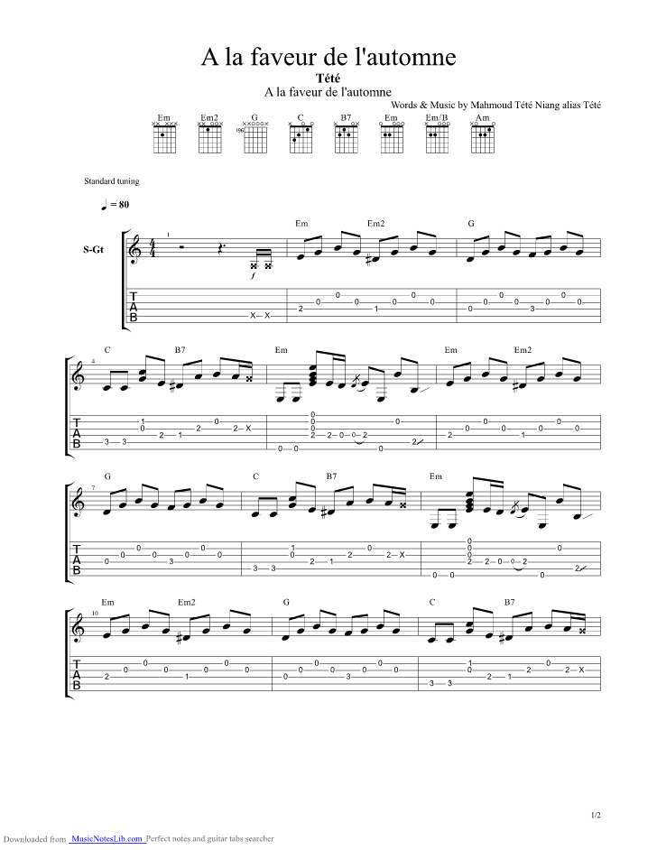 bobepine eric lapointe tab how to play