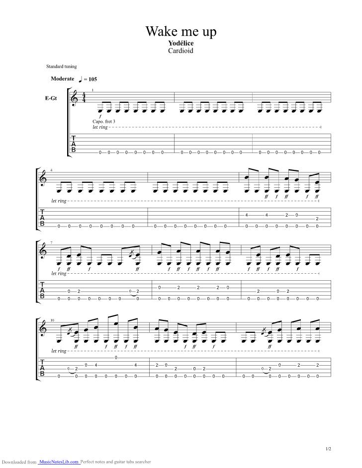 Guitar Chords Avicii Wake Me Up Choice Image - basic guitar chords ...