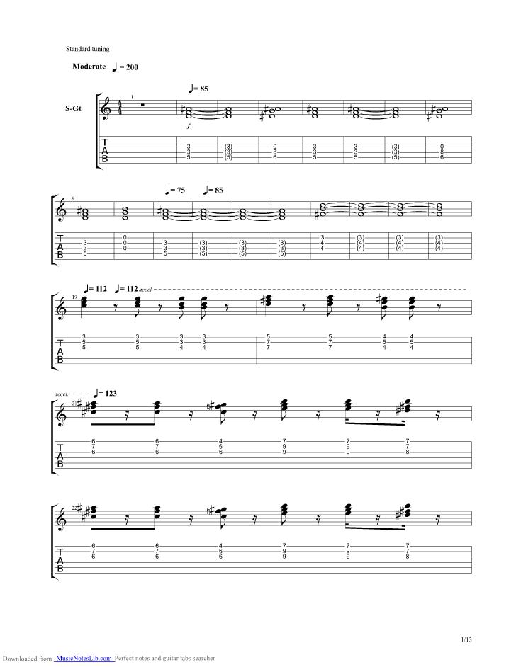 Eleventh Earl Of Mar Guitar Pro Tab By Genesis