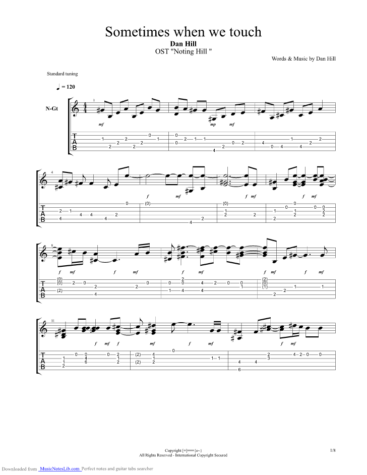 Sometimes When We Touch Chords Image collections - piano chord chart ...