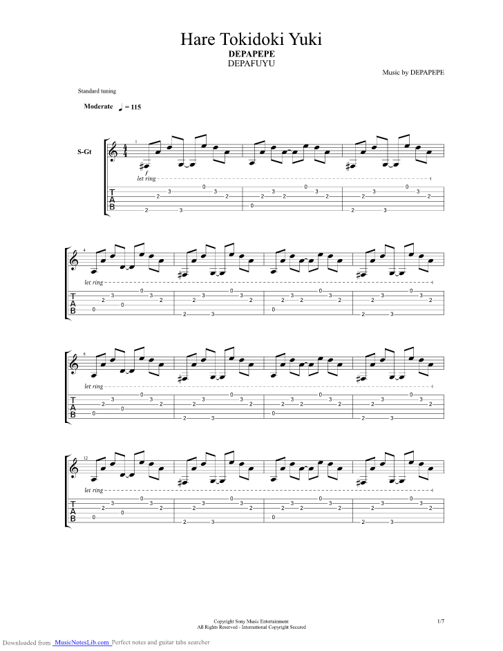 guitar pro depapepe wedding bell