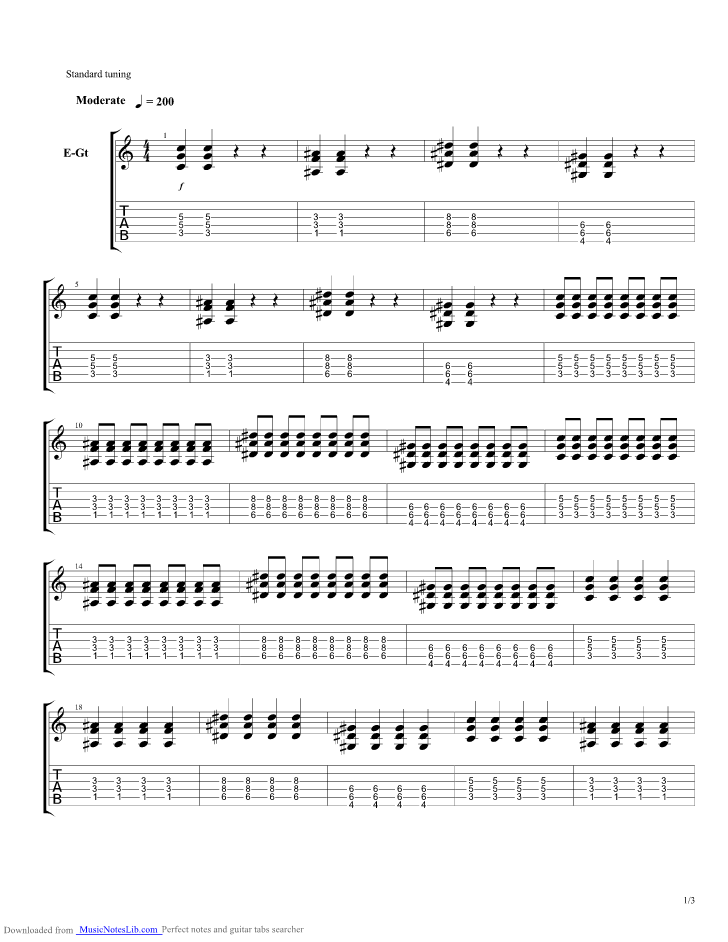 Rock N Roll Guitar Pro Tab By Avril Lavigne Musicnoteslib