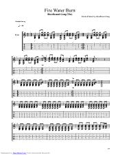Fire Water Burn Guitar Pro Tab By Bloodhound Gang