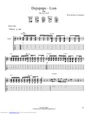 Lion Guitar Pro Tab By Depapepe Musicnoteslib